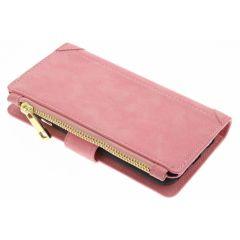 Rosafarbene luxuriöse Portemonnaie-Hülle iPhone 6 / 6s