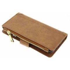 Braune luxuriöse Portemonnaie-Hülle für das iPhone 6 / 6s