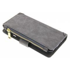 Graue luxuriöse Portemonnaie-Hülle für das iPhone 6 / 6s