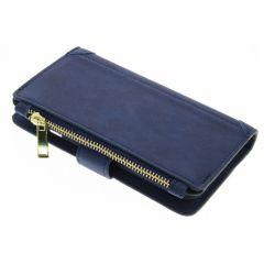 Blaue luxuriöse Portemonnaie-Hülle für das iPhone 6 / 6s
