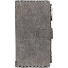 Luxuriöse Portemonnaie-Hülle Grau Samsung Galaxy A10