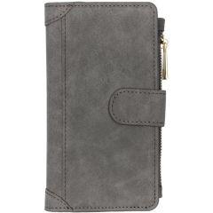 Luxuriöse Portemonnaie-Hülle Grau für Samsung Galaxy A20e