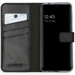 Selencia Echtleder Booktype Hülle Samsung Galaxy M31 - Schwarz