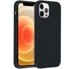 Accezz Liquid Silikoncase für das iPhone 12 (Pro) - Schwarz