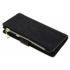 Schwarze luxuriöse Portemonnaie-Hülle Samsung Galaxy S8