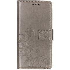 Kleeblumen Booktype Hülle Grau Samsung Galaxy A10