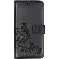 Kleeblumen Booktype Hülle Schwarz Samsung Galaxy A10