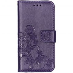 Kleeblumen Booktype Violett Hülle Samsung Galaxy A20e