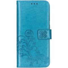 Kleeblumen Booktype Hülle Türkis für das Samsung Galaxy A70