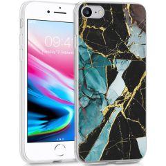 iMoshion Design Hülle iPhone SE (2020) / 8 / 7 / 6(s) - Marmor - Blau