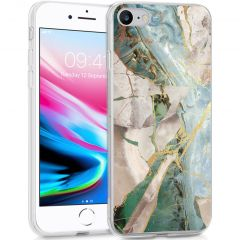 iMoshion Design Hülle iPhone SE (2020) / 8 / 7 / 6(s) - Marmor -Beige