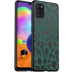 iMoshion Design Hülle Samsung Galaxy A31 - Leopard - Grün / Schwarz