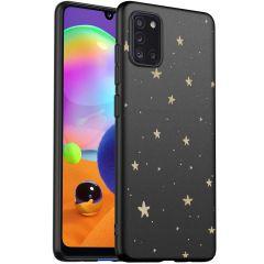 iMoshion Design Hülle Samsung Galaxy A31 - Sterne - Gold / Schwarz