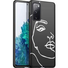 iMoshion Design Hülle Galaxy S20 FE - Abstraktes Gesicht - Weiß