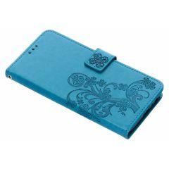 Kleeblumen Booktype Hülle Türkis für Samsung Galaxy J6 Plus