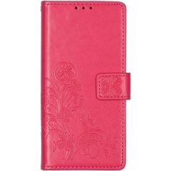 Kleeblumen Booktype Hülle Huawei P Smart (2020) - Fuchsia