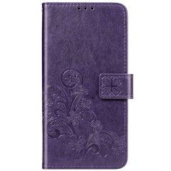 Kleeblumen Booktype Hülle Huawei P Smart Pro / Y9s - Violett