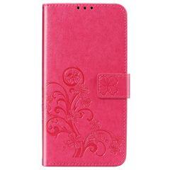 Kleeblumen Booktype Hülle Huawei P Smart Pro / Y9s - Fuchsia