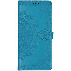 Mandala Booktype-Hülle Türkis für das Samsung Galaxy A71