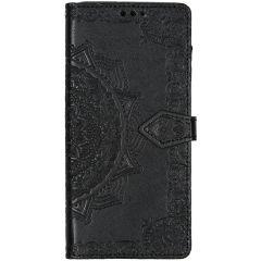 Mandala Booktype-Hülle Schwarz für das Samsung Galaxy A71
