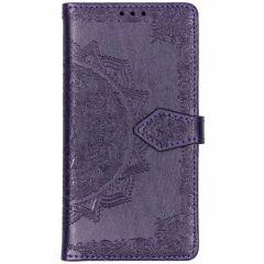 Mandala Booktype-Hülle Violett für das Samsung Galaxy S10e