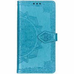 Mandala Booktype-Hülle Blau für das Samsung Galaxy S10e