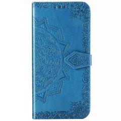 Mandala Booktype-Hülle Samsung Galaxy Note 20 - Türkis