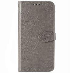 Mandala Booktype-Hülle Samsung Galaxy Note 20 - Grau