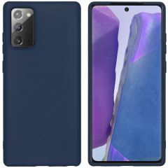 iMoshion Color TPU Hülle Samsung Galaxy Note 20 - Dunkelblau