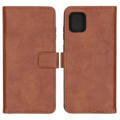 iMoshion Luxuriöse Buchtyp-Hülle Braun Samsung Galaxy Note 10 Lite