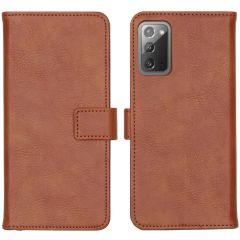 iMoshion Luxuriöse Buchtyp-Hülle Galaxy Note 20 - Braun