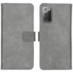 iMoshion Luxuriöse Buchtyp-Hülle Galaxy Note 20 - Grau