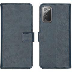 iMoshion Luxuriöse Buchtyp-Hülle Galaxy Note 20 - Dunkelblau