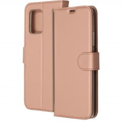 Accezz Wallet TPU Booklet Roségold für das Samsung Galaxy S10 Lite