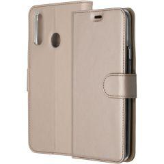 Accezz Wallet TPU Booklet für das Samsung Galaxy A20s - Gold