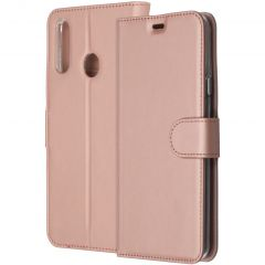 Accezz Wallet TPU Booklet für das Samsung Galaxy A20s - Roségold