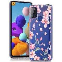 iMoshion Design Hülle Samsung Galaxy A21s - Blume - Rosa