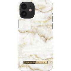 ideal of Sweden Fashion Back Case iPhone 12 Mini - Golden Pearl Marble