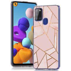 iMoshion Design Hülle Samsung Galaxy A21s - Grafik-Kupfer - Rosa