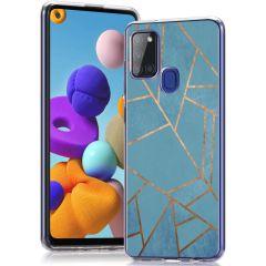 iMoshion Design Hülle Samsung Galaxy A21s - Grafik-Kupfer - Blau