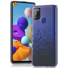 iMoshion Design Hülle Samsung Galaxy A21s - Spritzer - Schwarz