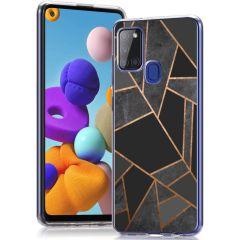 iMoshion Design Hülle Samsung Galaxy A21s - Grafik-Kupfer - Schwarz