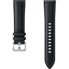 Samsung Leather Band Galaxy Watch Active 2 / Watch 3 41mm - Schwarz