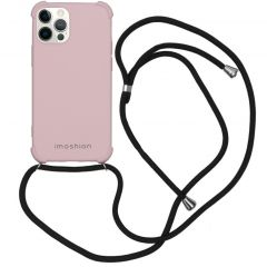 iMoshion Color Backcover mit Band iPhone 12 (Pro) - Rosa