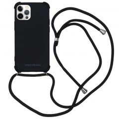 iMoshion Color Backcover mit Band iPhone 12 (Pro) - Schwarz