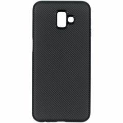 Carbon-Hülle Schwarz für das Samsung Galaxy J6 Plus
