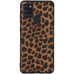 Leopard Hardcase Backcover für das Samsung Galaxy A21s
