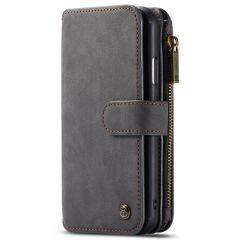 CaseMe Luxuriöse 2-in-1 Portemonnaie-Hülle Schwarz für iPhone 11