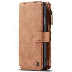 CaseMe Luxuriöse 2-in-1 Portemonnaie-Hülle Braun für iPhone 11 Pro