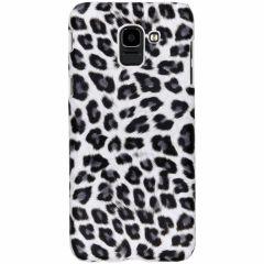 Leopard Design Hardcase-Hülle Weiß für das Samsung Galaxy J6